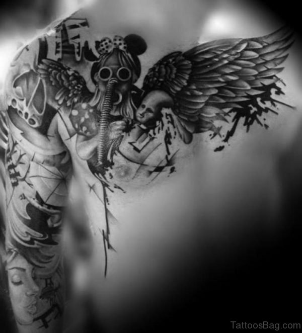 Mind Blowing Wings Tattoo