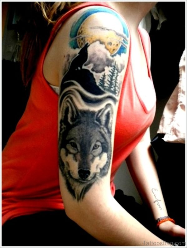 Mind Blowing Wolf Tattoo