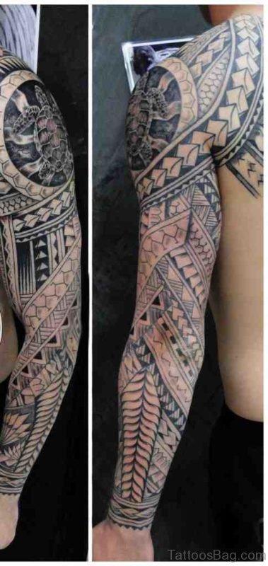 Mind Blowing Maori Tattoo