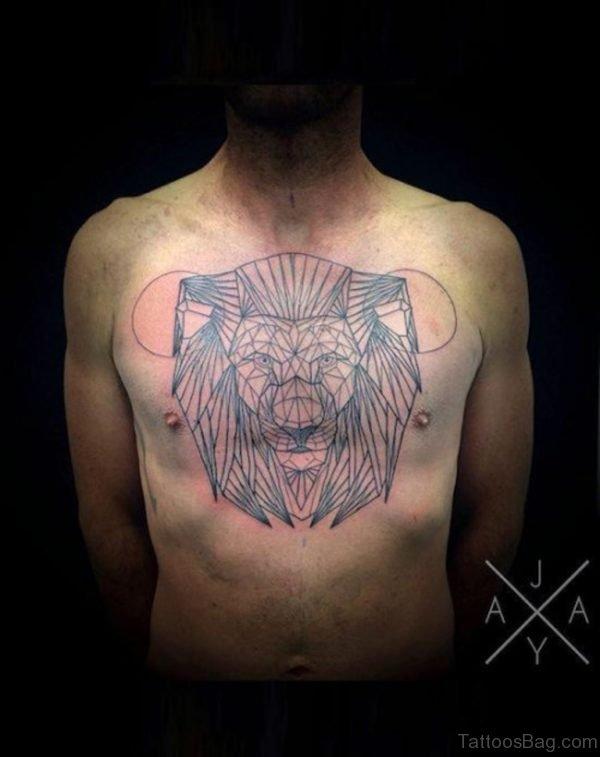 Minimalistic Lion Tattoo