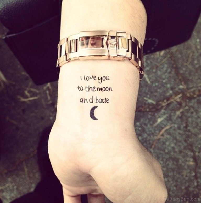 23d64fcd601a4 62 Lovable Wording Tattoos For Wrist