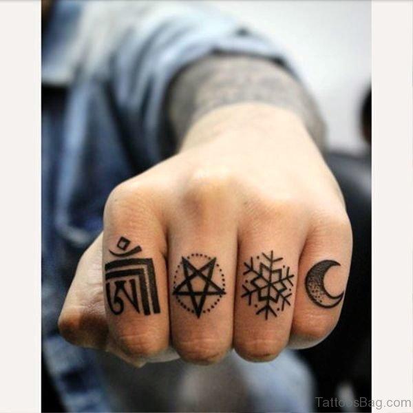 Moon Tattoo On Little Finger