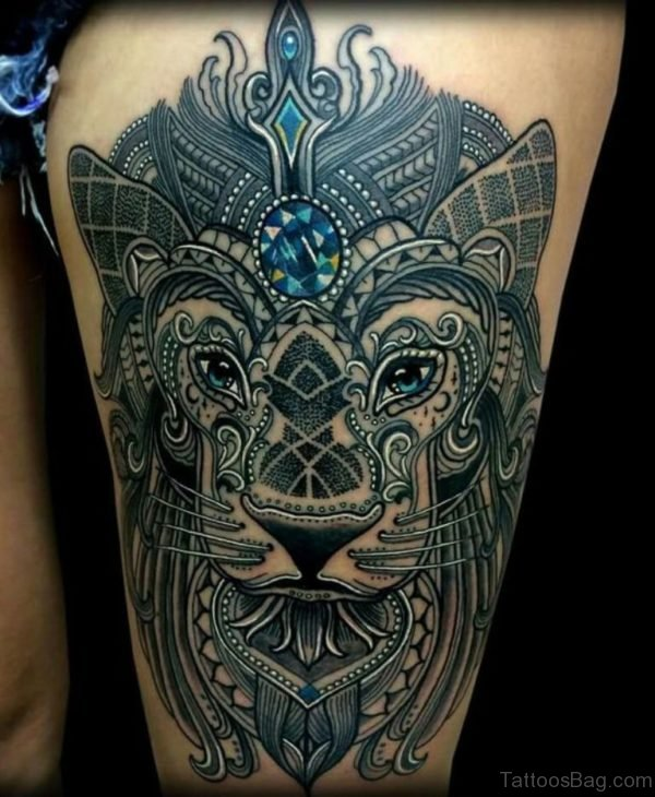 Mosaic Lion Tattoo