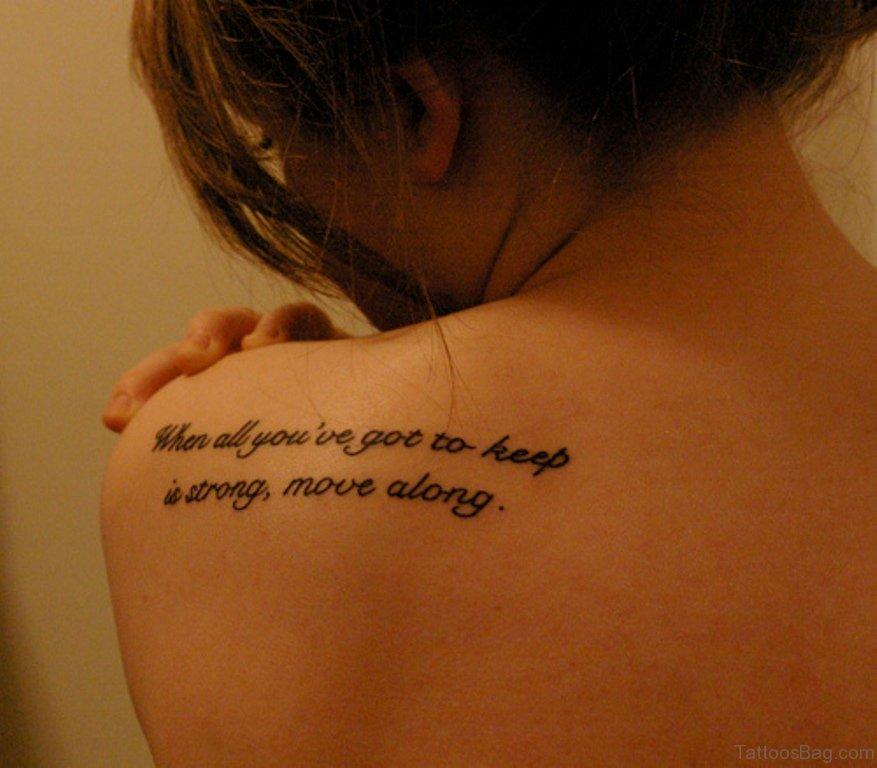 61 Fantastic Quote Tattoos On Shoulder
