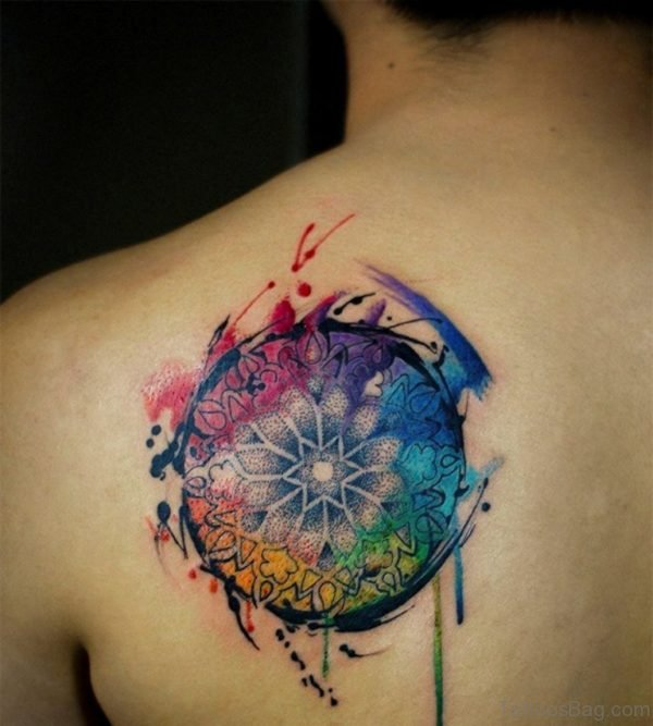 Multicolor Mandala Tattoo