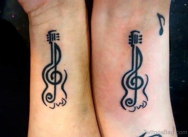 Music Guitar Tattoo Design