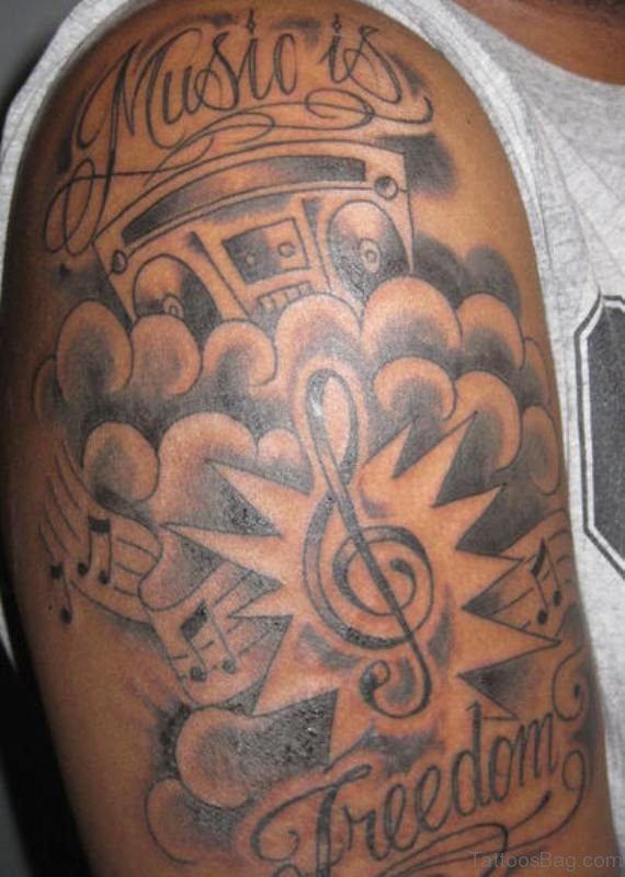 Music Is Freedom Tattoo