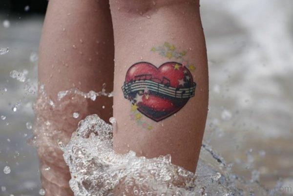 Music Note Heart Tattoo