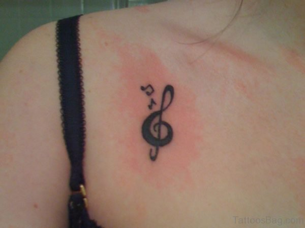 Music Note Tattoo On Chest