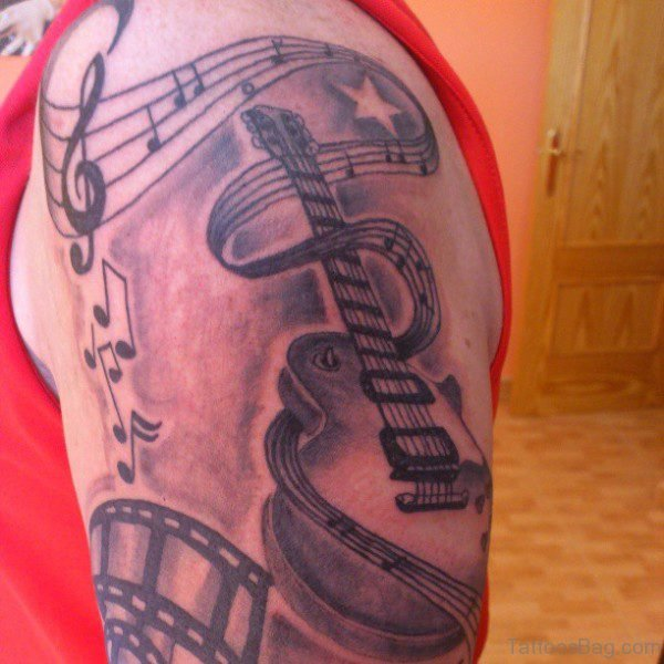 Music Note With Guitar