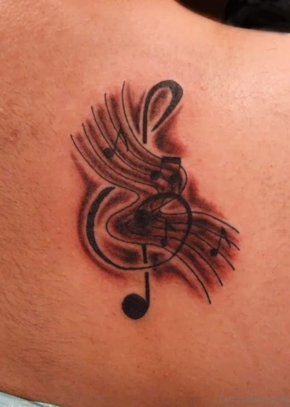 Music Shoulder Tattoo