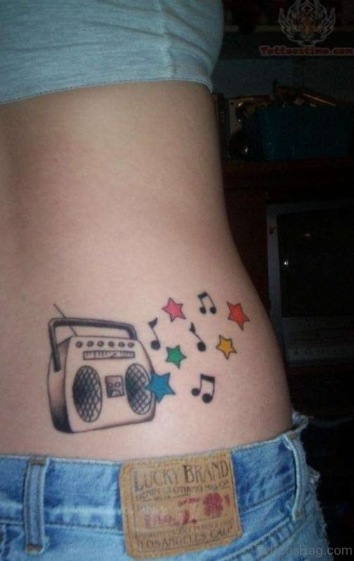 Music Stars Tattoos On Side Rib