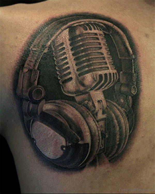 Music Tattoo Design On Shoulder