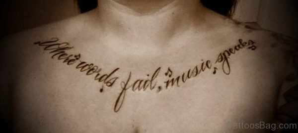 Music  Wording Tattoo