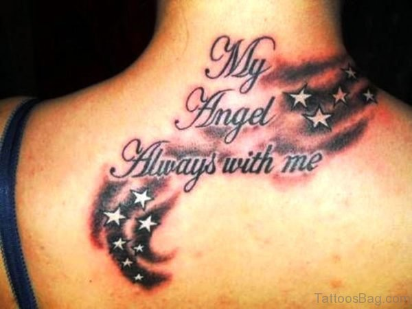 My Angel Tattoo On Neck