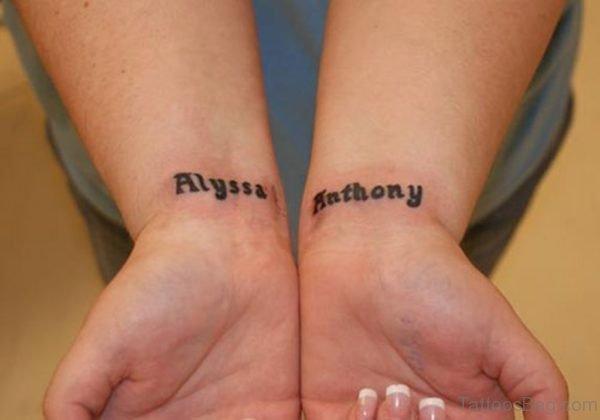 Name Tattoo Design On Wrist