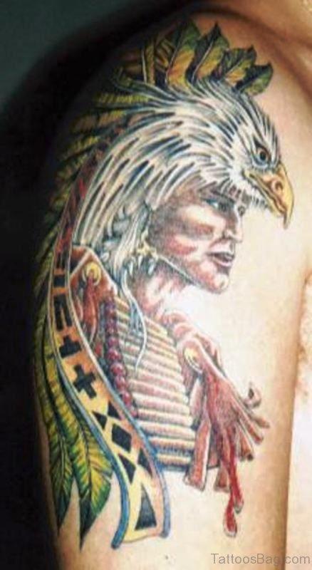 Native American Eagle Tattoo Design