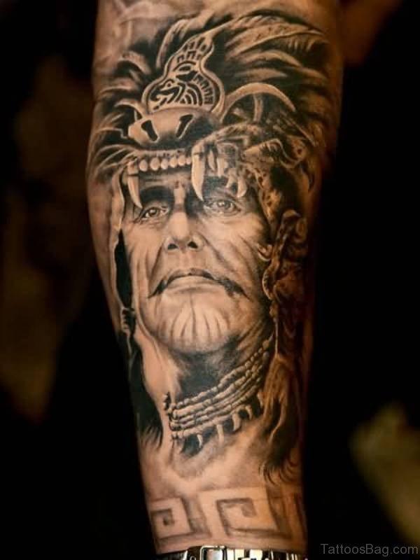Native American King Tattoo