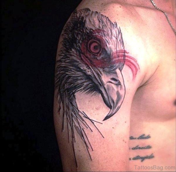 Native Eagle Shoulder Tattoo Design