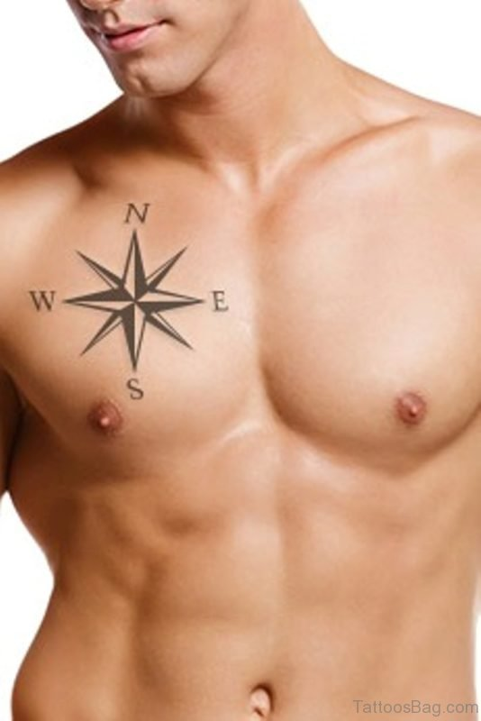 Nautical star with compass Tattoo