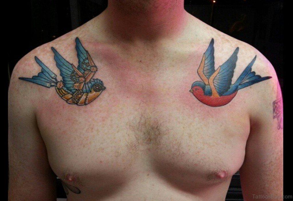 Bird Tattoo Navy