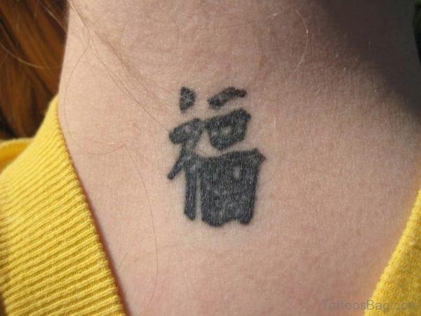 Neck Chinese Tattoo