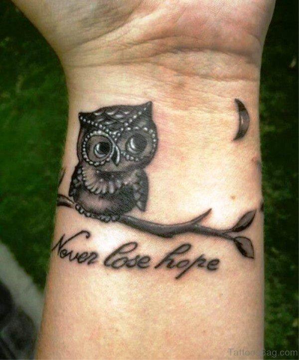 Never Lose Hope Tattoo On Wrist