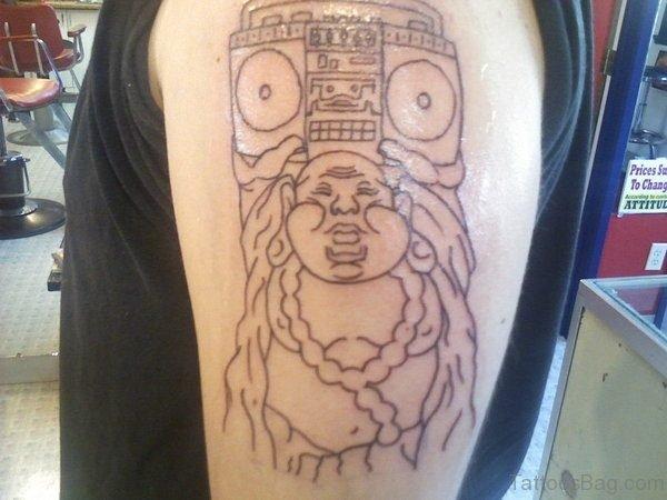 New Buddhist Tattoo On Shoulder