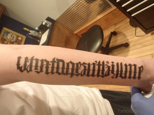 New Style Ambigram Tattoo