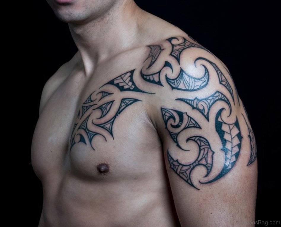 59 great tribal tattoos on chest