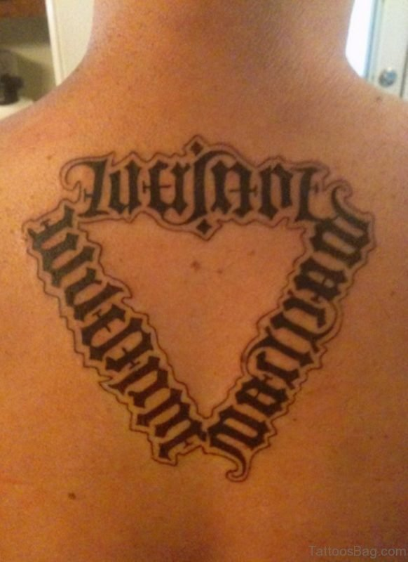 Nice Ambigram Tattoo