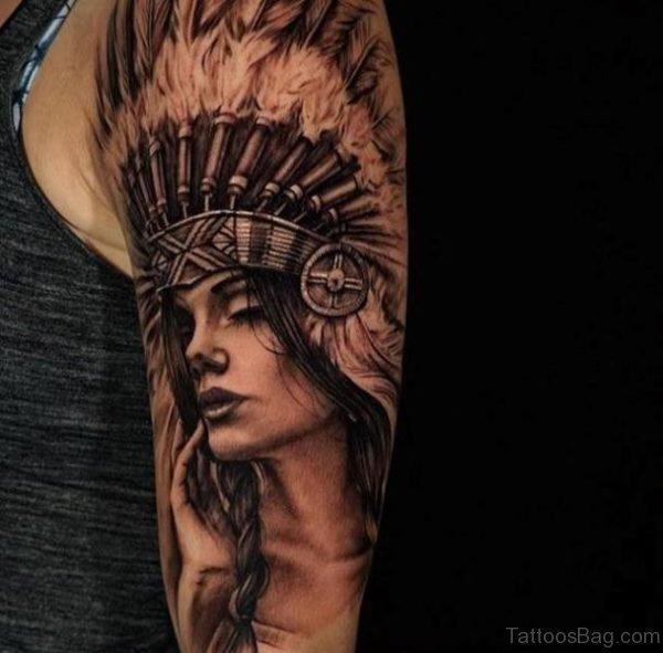 Nice American Lady Tattoo