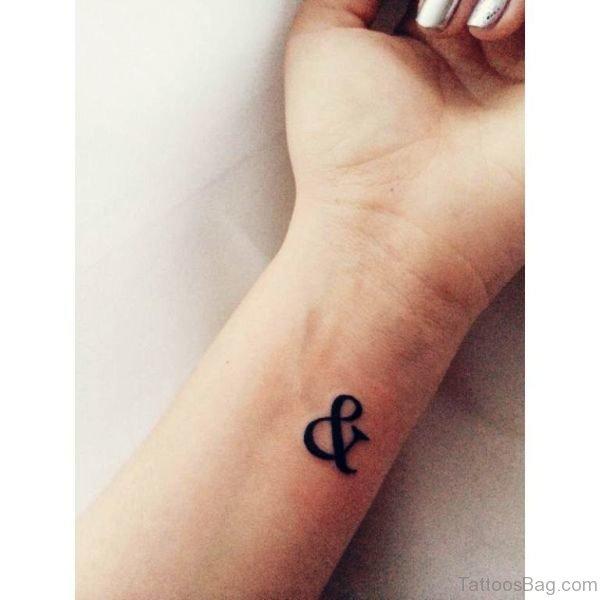 Nice Ampersand Wrist Tattoo