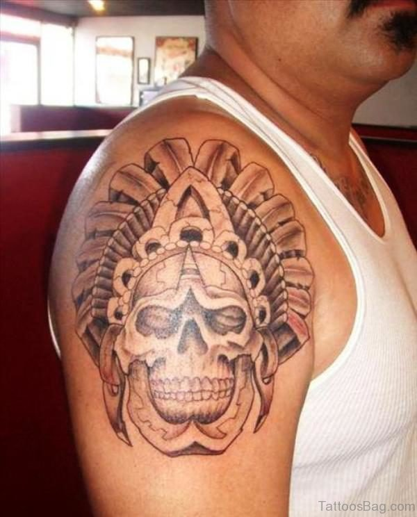 Nice Aztec Shoulder Tattoo