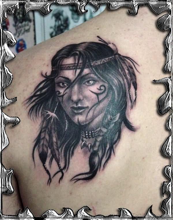 Nice Black American Tattoo