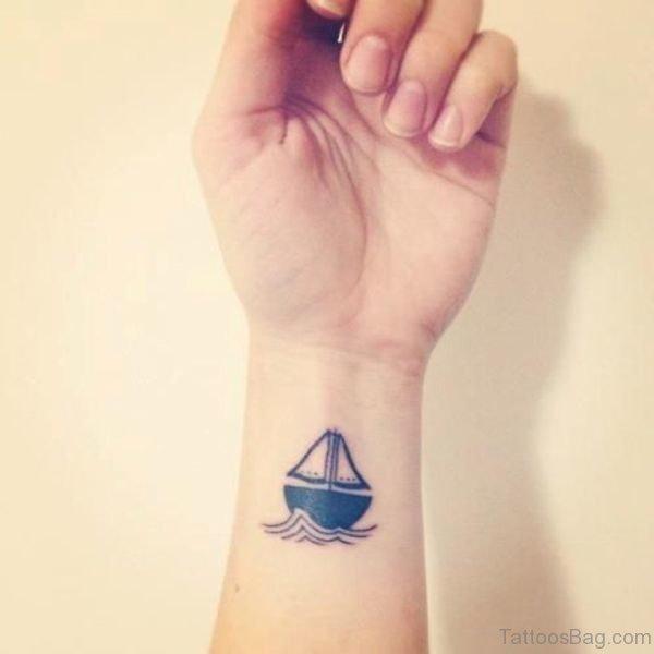 Nice Boat Wrist Tattoo
