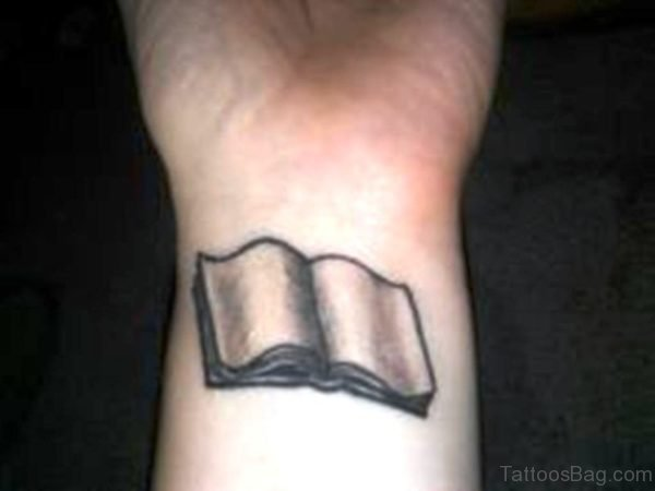Nice Book Wrist Tattoo