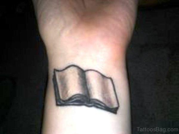 Nice Book Wrist Tattoo