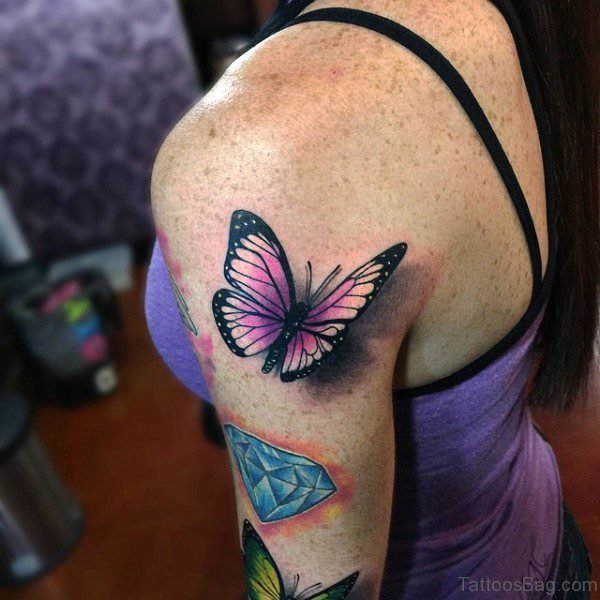 Nice Butterfly Tattoo Design