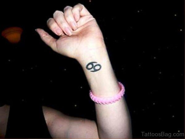 Nice Cancer Tattoo On Wrist