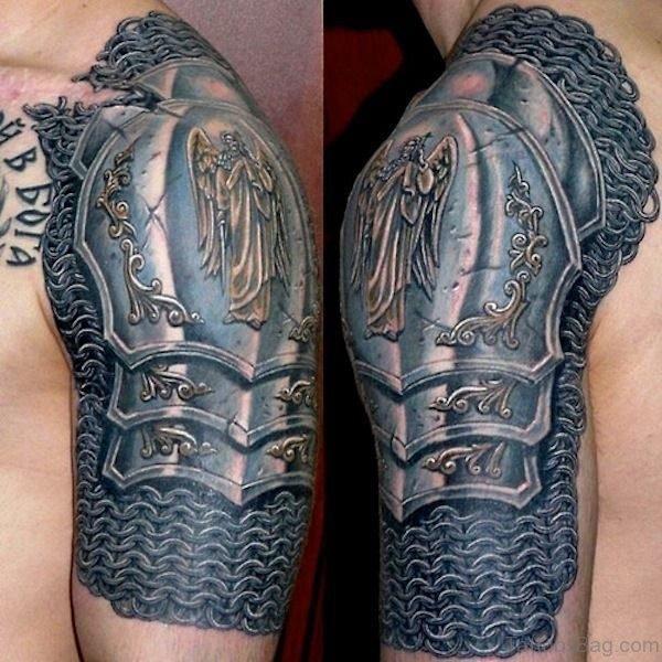 Nice Celtic Half Sleeves Tattoo Design