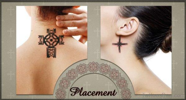 Nice Celtic Knot Tattoo On Neck