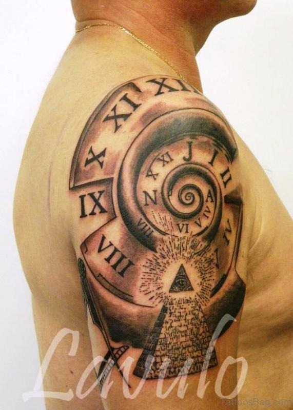 Nice Clock Tattoo Design