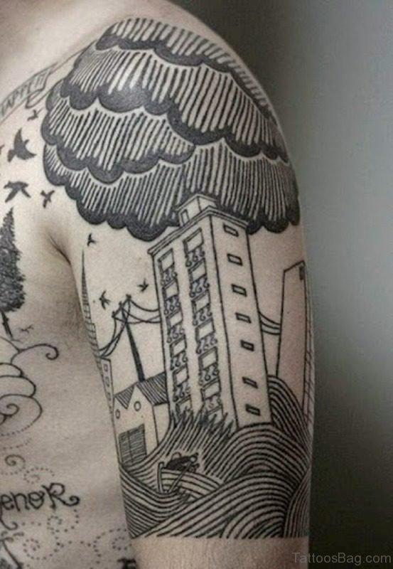 Nice Cloudy Tattoo Design