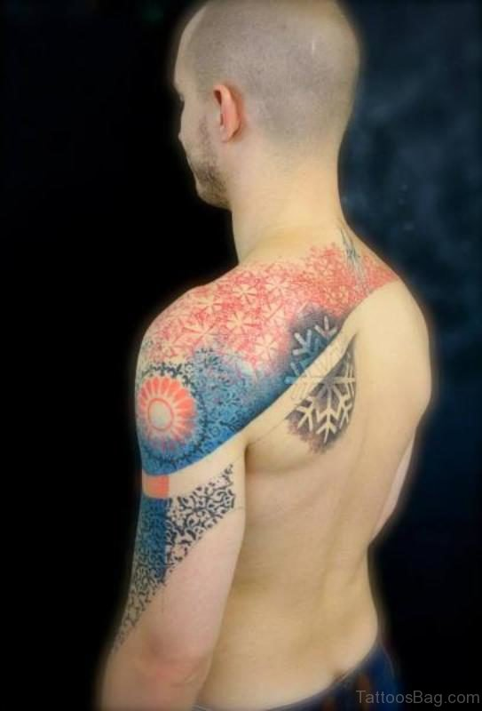 Nice Colored Geometric Tattoo