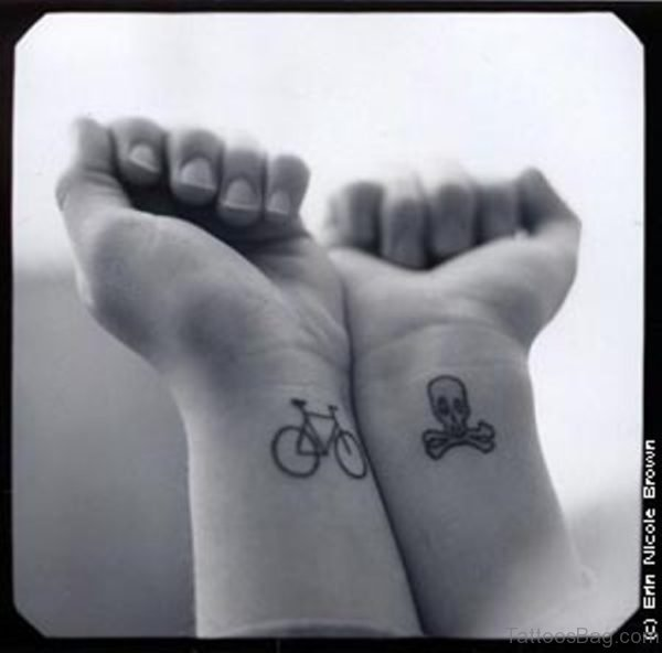 Nice Cycle Tattoo On Wrist