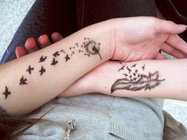 Nice Dandelion Tattoo On Wrist