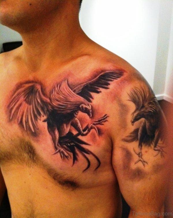 Nice Eagle Shoulder Tattoo