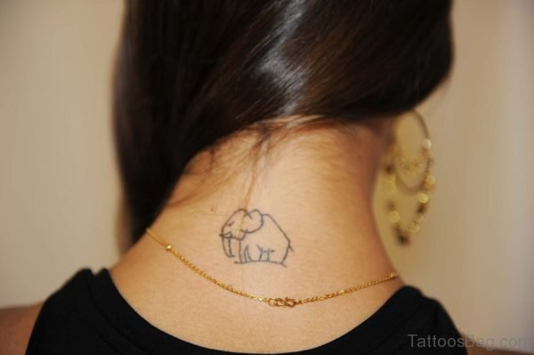 Nice Elephant Tattoo Design