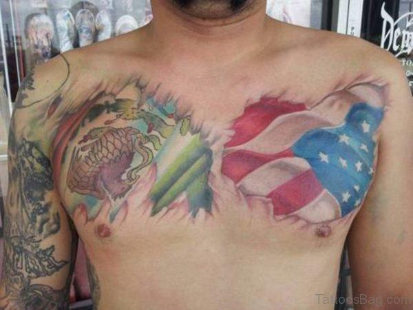 Nice Flag Tattoo